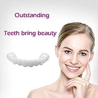 QWE Sonrisa De Dientes, Belleza Natural Dental Instantánea Sonrisa Comodidad Adecuada para Dientes De Maquillaje Elástico, Dientes De Dientes Cosméticos Naturales Dientes Sonrisa