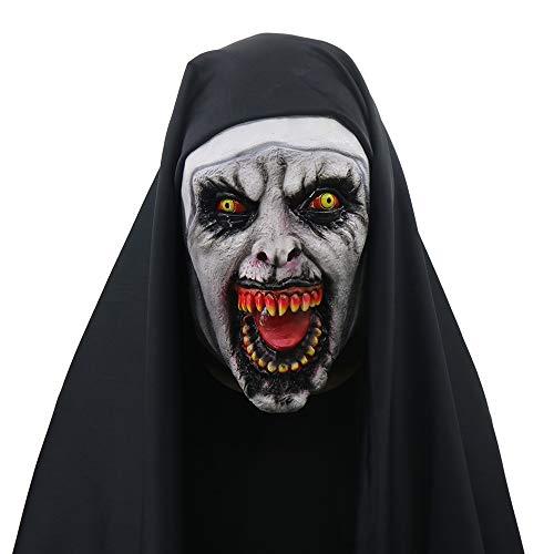 NightGhost Halloween Nonne Valak Maske, weiblicher Geist, schreckliche Cosplay Kostüm Bar Musik Requisiten Neuheit Erwachsenen Maske, - Punk Rock Weibliche Kostüm