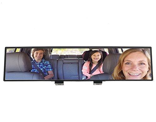 m Blick Ihre Kinder besser sehen – mit dem bruchsicheren 180 Grad rundum Sicht Auto Rückspiegel der Marke Qwer® | Mehr Überblick im Innenraum ist komfortabler und sicherer für Eltern, für Ihre Kinder und für Ihr Baby | auch ideal als Geschenk / Geschenke (Grad Geschenk-ideen)