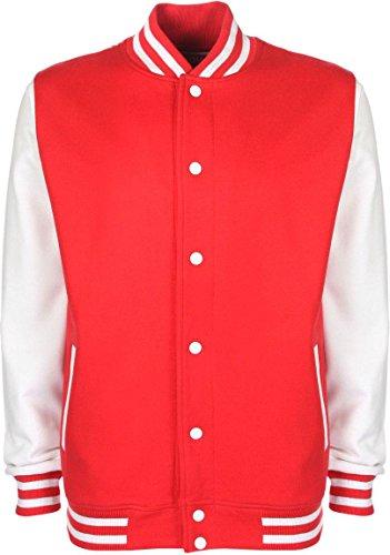 College Leichte Mädchen Kostüm - normani College Jacke/Freizeitjacke - für Kinder Farbe Rot/Weiß Größe 140