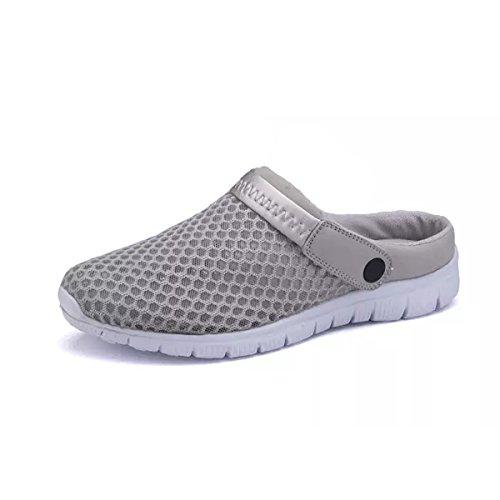Skechers 54152 - Zapatillas de Material Sintético Hombre, Color Gris, Talla 41 EU
