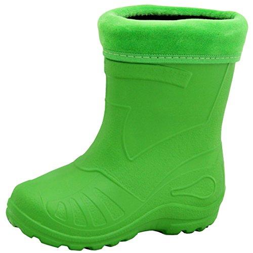 Regenstiefel Gummistiefel Kinderstiefel Kinder superleicht gefüttert 11 Farben NEU Grün