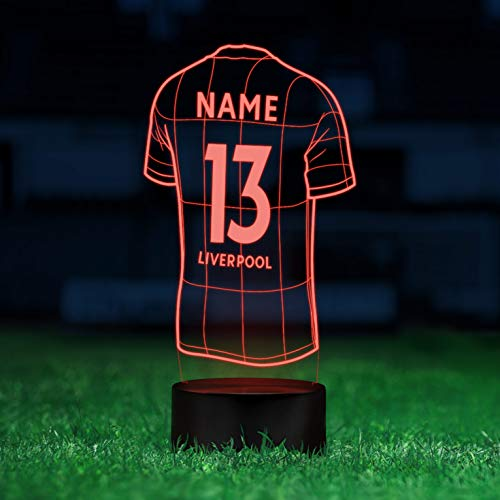 Personalisierbare Deko Lampe für Liverpool-Fans - Elbeffekt - Fußball Kinder Deko - Fußball Lampe Kinderzimmer Geschenk Fussball -