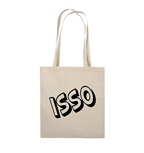 Comedy Bags - ISSO - COMIC SCHIEF - Jutebeutel - lange Henkel - 38x42cm - Farbe: Schwarz / Pink Natural / Schwarz