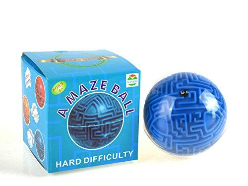 3D-Labyrinth-Ball, Morbuy Puzzle ball Weisheit Ball 3D Lustige Intellectual Maze Kugel Zauberball Bunte Labyrinth Geometrische Figuren (Schwierigkeitsgrad Schwer)