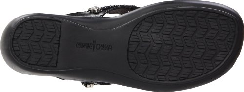 Minnetonka Silverthorne Thong Womens Black