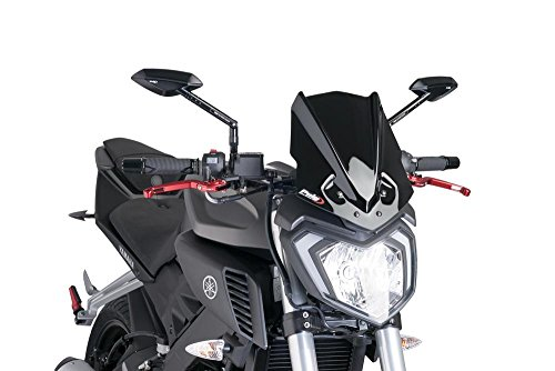 PUIG - 7654N : Cúpula Carenabris Parabrisas New Generation Yamaha MT 125 Color Negro Yamaha -> Mt-125 (15)