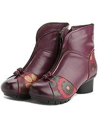 Botas De Caballero De Invierno Retro Zapatos De Madre De Mediana Edad  Calientan Botas De Mujer 56ee01628fbd5