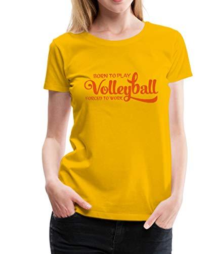 Volleyball Statement Frauen Premium T-Shirt, M (38), Sonnengelb