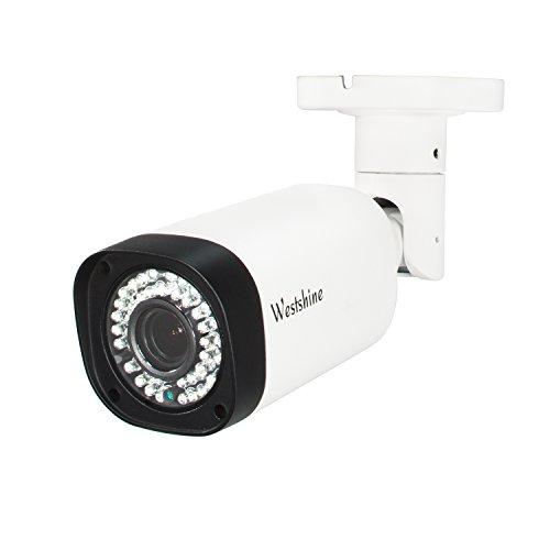 Westshine 1080P CCTV Überwachungskameras Außen wasserdichte Bullet Kamera, 2.8-12mm Weitwinkel 1/2.7'' CMOS 42-IR LED 100ft Infrarot Nachtsicht,4-in-1(TVI + CVI + AHD + Analog)(Varifocal 2MP) Dvr-controller