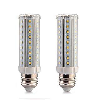 ALFA Beleuchtung E27 LED 10 W Warm Weiß 3000 K, LED Mais Glühlampe entspricht 80 W Leuchtmittel (2 Stück)