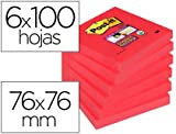 Post-it Notes Super Sticky 76 x 76 mm - 90 feuilles - Rose Coquelicot