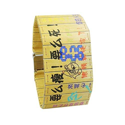 Creative LED Wasserdicht Papier Gurt Digital Armbanduhr, mamum New Creative Papier Uhr LED Wasserdicht Uhr Tyvek Papier Gurt Digital Uhren Einheitsgröße C