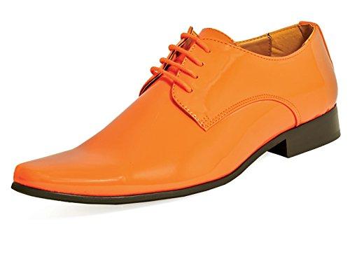 Dobell Herren Lackschuhe Elegante Schuhe Schnürschuhe Abendschuhe Orange 41