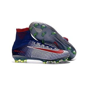 Lowm calcio stivali, scarpe da calcio Mercurial Superfly V FG, Uomo, Blue, EUR42=UK7.5