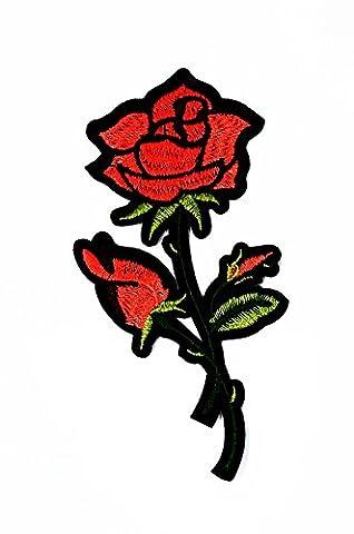 rabana rot Rosen Cartoon Kids Kinder Cute Animal Patch für Heimwerker-Applikation Eisen auf Patch T Shirt Patch Sew Iron on gesticktes Badge Schild (Retro Roboter-kostüm)