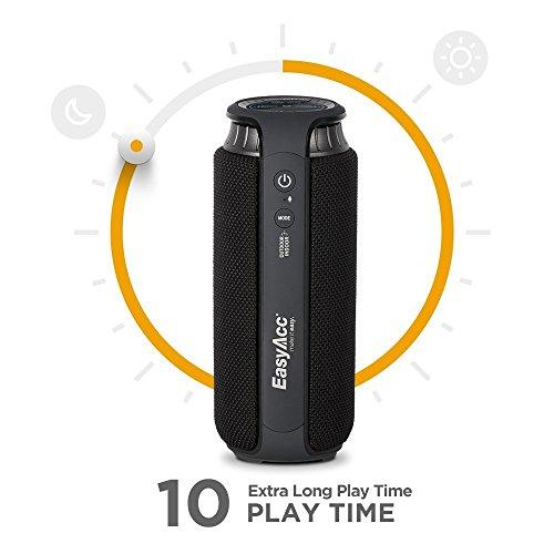 EasyAcc SoundCup 20W Treiber Bluetooth 4.1 Spritzwassergeschützter tragbarer Lautsprecher Subwoofer mit großartigen Höhen und Superbass, mit Aussen- und Innenmodus, empfindliches Touch-Panel, Schwarz - 3
