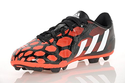 Chaussures de football adidas Predito Instinct pour sol ferme pour gar�on en noir et rouge Noir rouge