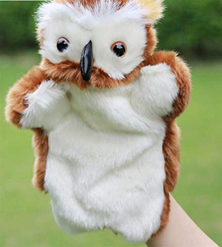 n Spielzeug Eule Plüsch Puppen Baby Pädagogische Hand Cartoon Tier Spielzeug für Erwachsene und Kinder ()