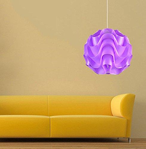 Suspension boule PVC lilas