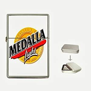 Medalla Beer Flip Top Lighter and Case Box
