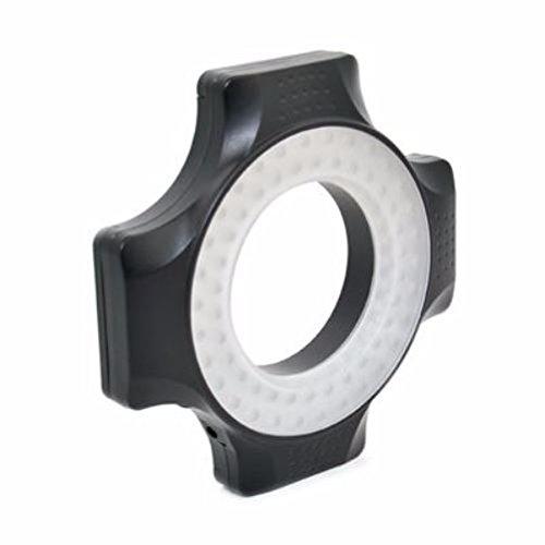 JJC Makro-LED-Leuchten, 60Stück, Voll dimmbar–für Objektive mit 49mm, 52mm, 55mm, 58mm, 62mm, 67mm Gewinde (Objektiv-leuchte)