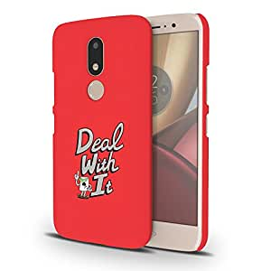 Koveru Designer Printed Protective Snap-On Durable Plastic Back Shell Case Cover for Motorola Moto M - Deal with it