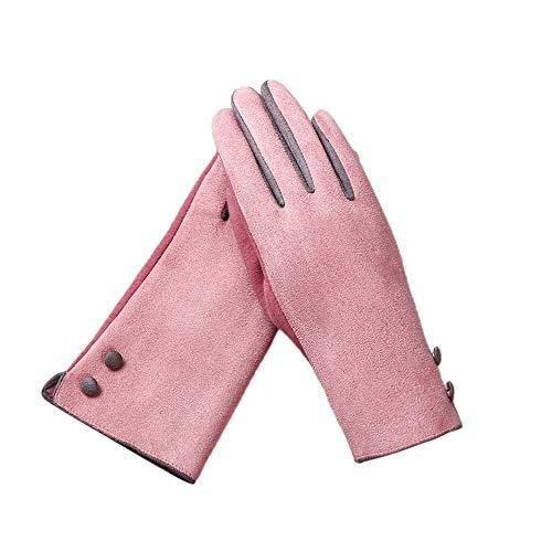 FeiBeauty Winter-Wildlederfarbe der Frauen, die warme lange Handschuhe im Freien trifft, winddichte kalte Sporthandschuhe der Sportart und weise