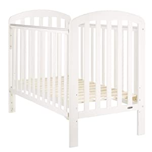 Obaby Lily Cot (White)  Co-sleeping crib that promotes side-sleeping and allows you to sleep close to your child Can be used as a normal crib as baby grows.open size: 66/81 x 93 x 69 Uitable from birth to 6 months/9 kg or until baby can pull themselves into an upright position 9