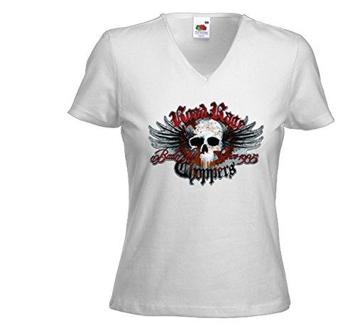 Fruit of the Loom - Camiseta - para Mujer Blanco Extra-Small