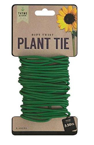 THYME TO GROW Attache Souple pour Plantes 5,5 m