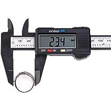 Yakamoz 0-150mm LCD Pied à Coulisse Numérique Étrier Vernier Calibre à Coulisse Plastique Avec Écran Grand Mesurer Diamètre Intérieur, Diamètre Extérieur, Profondeur et Etape Précision: ± 0.1 mm