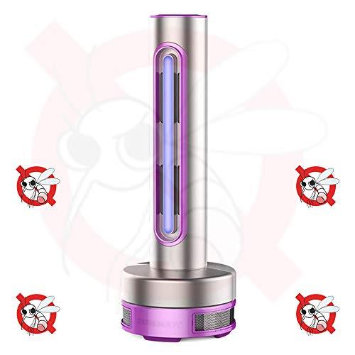 lili Insektenvernichter Insektenfalle Leiser Strahlungsfreier ABS-Kunststoff LED-physikalische Mücke Die Inneninhalations-stereoskopische Stabilität Tötet,Purple-140X140X385mm -