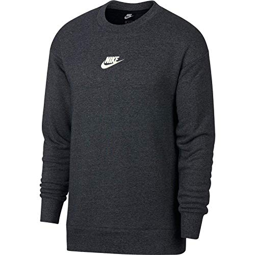 Nike Herren M NSW Heritage CRW Long Sleeved T-Shirt, schwarz (black/heather/Sail), L -