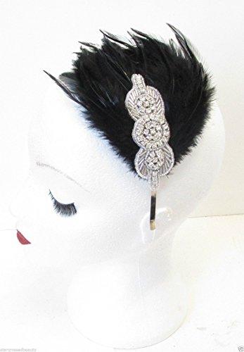 ass Feder Haarband Flapper Vintage 20er M94Stil der Zwanzigerjahre ()