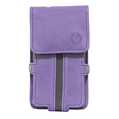 Jo Jo A6 Nillofer Series Leather Pouch Holster Case For LG Google Nexus 5 (16GB) Purple Black