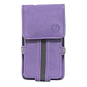 Jo Jo A6 Nillofer Series Leather Pouch Holster Case For Micromax W900 Purple Black