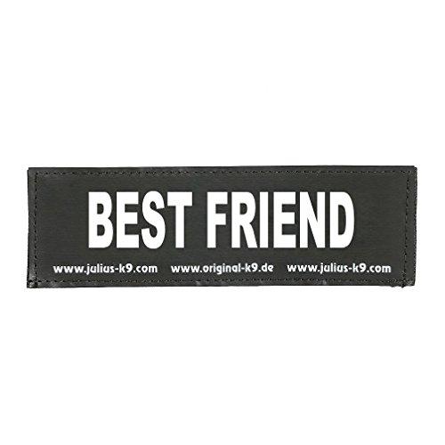 Julius-K9 162LR-G-41801 Klettaufschrift, BEST FRIEND, schwarz
