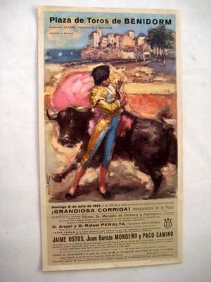 Portada del libro Poster : PLAZA DE TOROS DE BENIDORM : Angel y Rafael PERALTA, Jaime OSTOS, Juan García MONDEÑO y Paco CAMINO