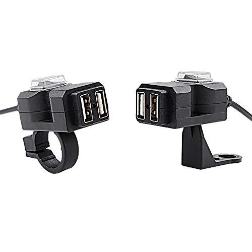 TianranRT Wasserdicht Dual USB 12V Motorrad Lenker Ladegerät Steckdose Schalter & Halterungen