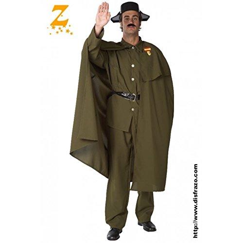 Imagen de disfraz de guardia civil con capa para hombre