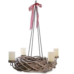 adventskranz weide zum h ngen und stellen. Black Bedroom Furniture Sets. Home Design Ideas