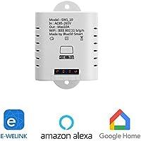 Interruptores inalámbricos MiMoo, interruptores de luz Funciona con Amazon Alexa, Google Home, Google Nest, Blanco