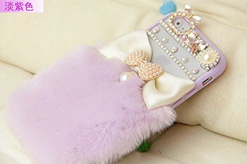 Coque iPhone 6 Plus/6S Plus , iNenk® Rex Hiver Laine Téléphone coquille protectrice Hard Shell PC Percer Mode 3D luxe couverture Diamant cas pour les femmes-Rose Mauve