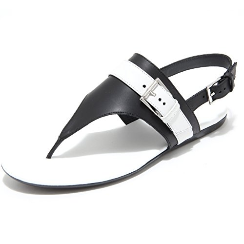 7964I infradito donna nero HOGAN valencia scarpe shoes flips-flops shoes women Bianco/Nero