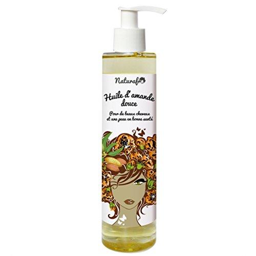 Huile d'amande douce pour cheveux et visage - 100 ml, Bouchon pompe