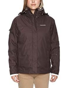 Craghoppers Hiss Winter 3 In 1 Women's Waterproof Jacket - Cocoa/Sea Salt, Size 8