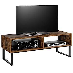 Homfa Fernsehtisch TV Regal TV Schrank TV Tisch TV Möbel TV Lowboard TV Board Fernsehschrank Wohnzimmertisch Vintage…