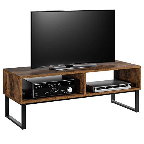 Homfa Fernsehtisch TV Lowboard Fernsehschrank Wohnzimmertisch Vintage Holz Metell 108x40x40cm
