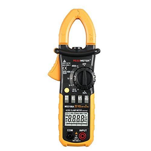 Protmex Digital Strommesszange und Multimeter, MS2108A Digital Clamp Meter 4000 zählt Strom Widerstand Kapazität Frequenz Duty Cycle Tester mit AC / DC Spannungsprüfer Stromzange Amperemeter Duty-cycle-multimeter